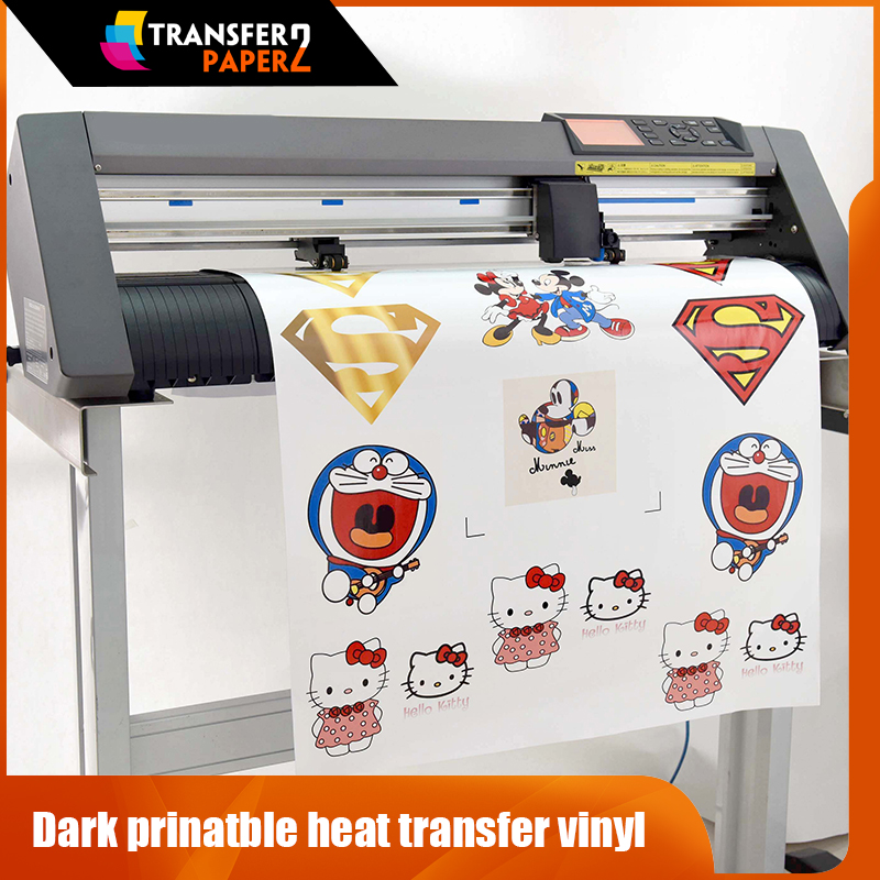 photo relating to How to Use Printable Heat Transfer Vinyl titled Basic cutter dim printable warmth shift vinyl roll for