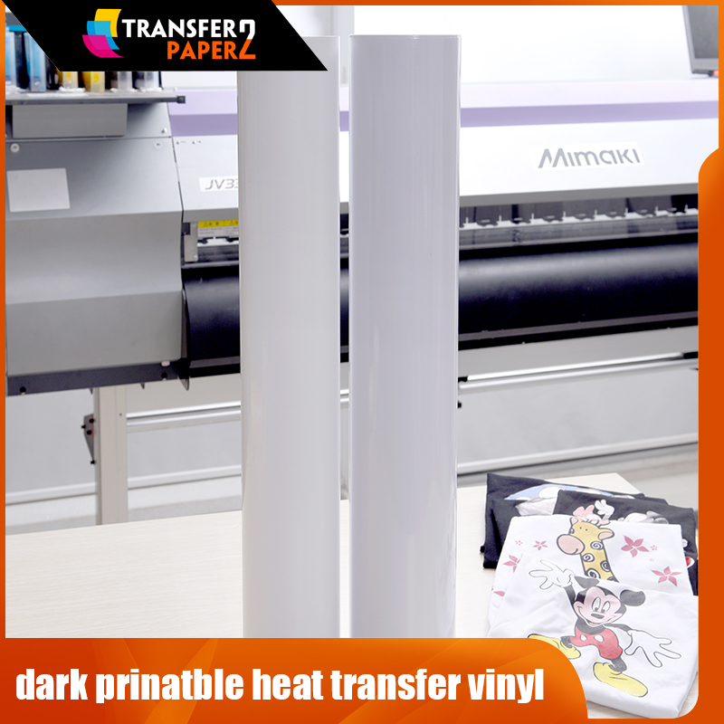 graphic relating to How to Use Printable Heat Transfer Vinyl identified as Superelastic darkish printable warm go vinyl roll