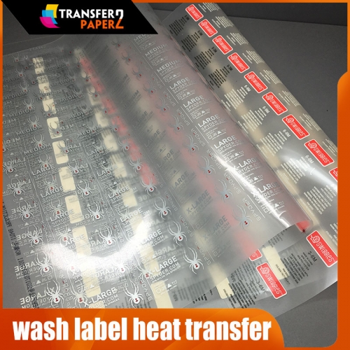 Screen printing wash label heat transfer for tshirt