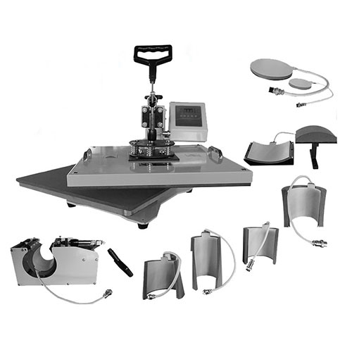 8 in 1 combo multi functions heat press machine for t-shirt.