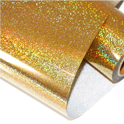 Hologram (bright golden color) best selling hologram hot foil stamping vinyl leather transfer film