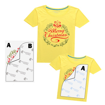 Self-weeding no cut laser t-shirt transfer paper A + B