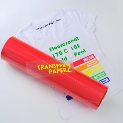 Fluorescence Red Heat Transfer Vinyl