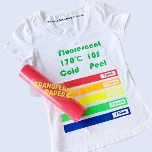Fluorescent Rose red Heat Transfer Vinyl