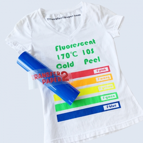 Fluorescent Blue Heat Transfer Vinyl