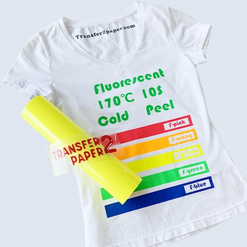 Fluorescent Lemon Heat Transfer Vinyl