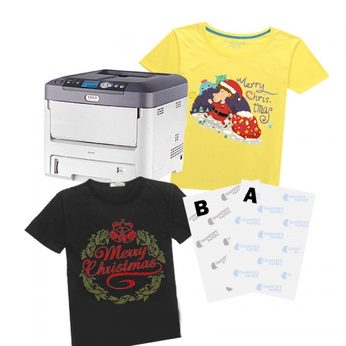A+B Self-weeding laser t-shirt transfer paper sheet for cotton t-shirt