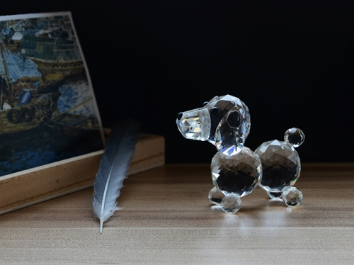 Lovely Gift Crystal Dog Figurine Polished Crystal Puppy