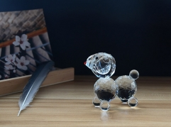 Best Birthday Gift For Girlfriend Lovely Gift Crystal Dog Figurine Polished Crystal Puppy