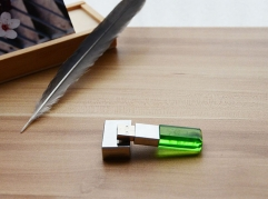 Green Crystal USB Fl...