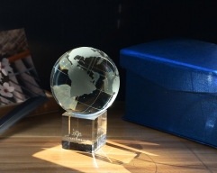 Crystal Globe Personalized Crystal Glass Ball As Gift For Husband