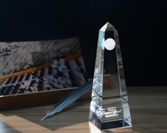 Crystal Obelisk Custom Logo Laser For Glass Home Decor Items Wholesale Price