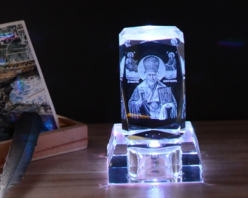 Crystal LED Base For 3D Laser Crystal Cube Stand