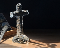 Crystal Decoration Crystal Cross Figurine