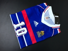 1998 French Retro version home soccer Jersey
