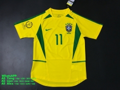 2002 Brazil brasil world cup home soccer jersey football shirts