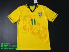 1994 Brazil brasil home soccer jersey football shirts