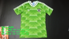 Retro Vintage 1988 Germany Away soccer jersey football shirts
