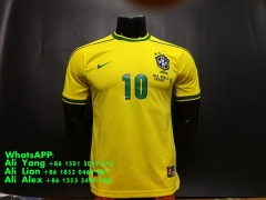 1998 Brasil brazil home football shirts soccer jersey