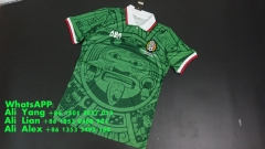 Retro Vintage 1998 Mexico home Green soccer jersey football shirts