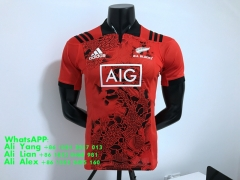2017 Maillot de rugby de l'équipe des All Blacks RED  All Blacks Rugby Team Shirt jersey
