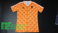 1988 holland home soccer football shirts jersey