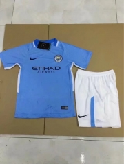New Manchester City jersey 17/18 home kids child soccer jersey football shirts