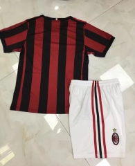 17/18 AC milan  home kids red 2017 2018  soccer jersey childs kids