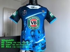 2017 2018 NSWRL BLUES HOLDEN BLUE RUGBY JERSEY