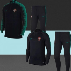 2018 Portugal Black Training Suit