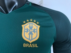 TOP 2018  Brasil away third green soccer wear Camiseta de Futbol