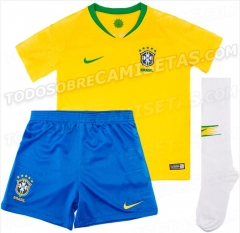 2018 2019 brasil brazil Jersey kids away home football soccer jersey