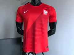2018 world cup Poland away red soccer jersey