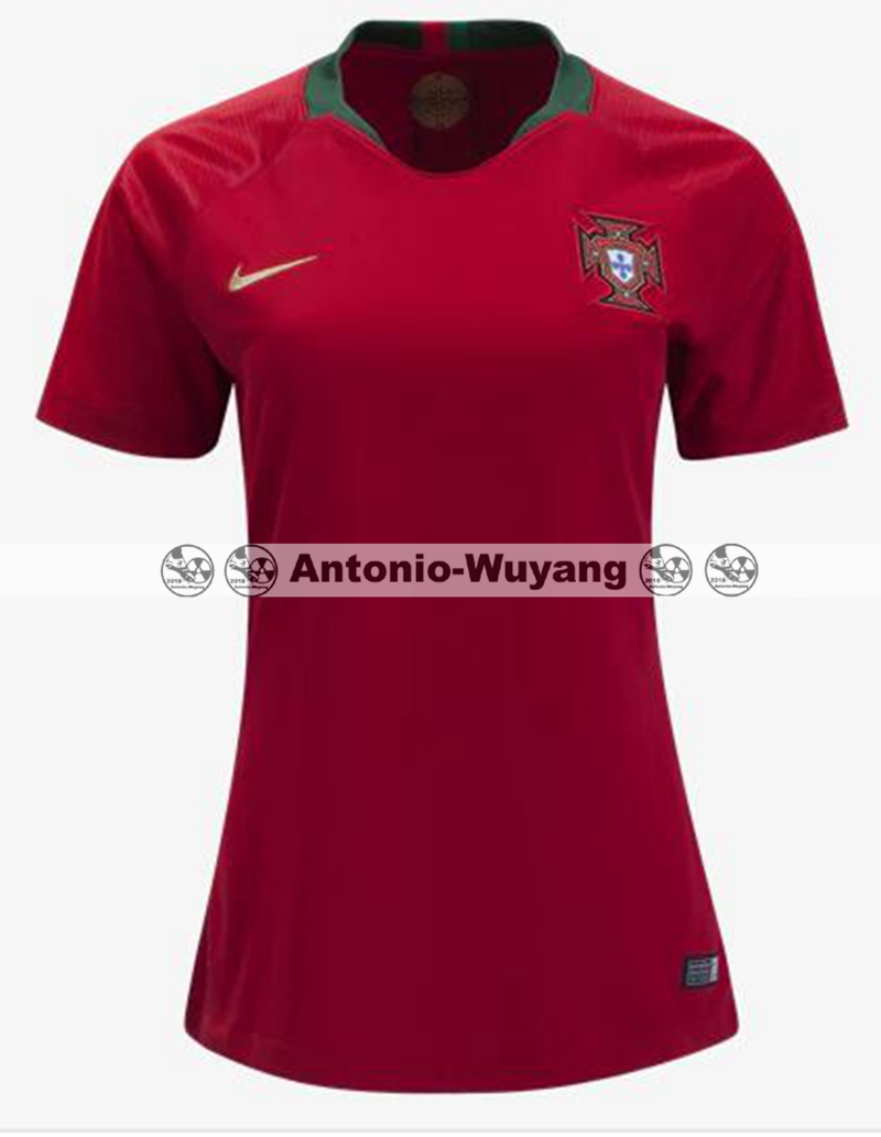 2018 world cup portugal red women jersey home