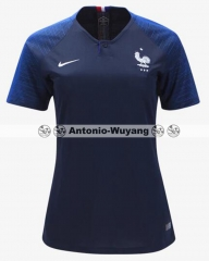 2018 France home blue women jersey