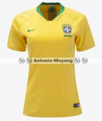 TOP 2018 Brazil brasil home Women soccer wear Camiseta de Futbol