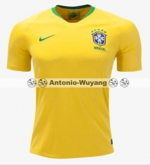 2018 brasil brazil Jersey Home yellow football soccer jersey