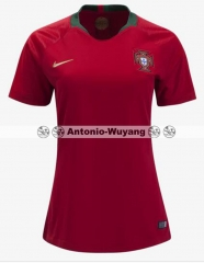 2018 world cup portugal Home red women soccer jersey