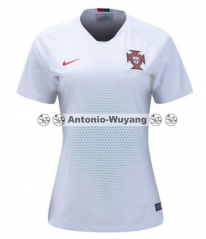 2018 world cup portugal away white women soccer jersey