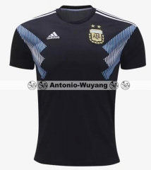 Player version   Argentina AWAY BLACK soccer Jersey 2018 world cup