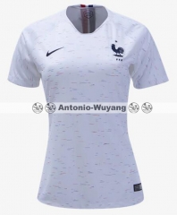 2018 France away white women jersey