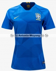 TOP 2018 Brazil brasil away Women soccer wear Camiseta de Futbol