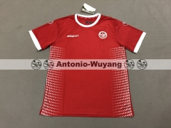 2018 world cup Tunisia away red jersey fans version