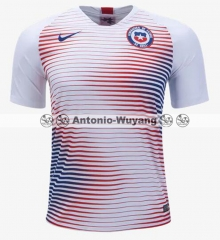 2018 World cup Chile AWAY WHITE soccer  jersey