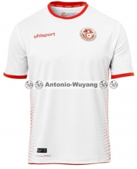 2018 world cup Tunisia home white jersey fans version