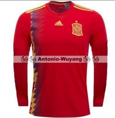 2018 World cup Spain jersey long sleeve LS