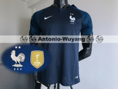 e30c7d06222 2 Star 2018 France world cup champions home jersey
