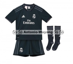 18-19 Real madrid away kids youth soccer jersey