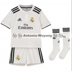 18-19 Real madrid home kids youth soccer jersey