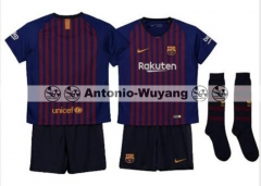18-19 Barcelona home kids youth soccer jersey